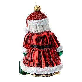 Blown glass Christmas ornament, Santa Claus in England s4