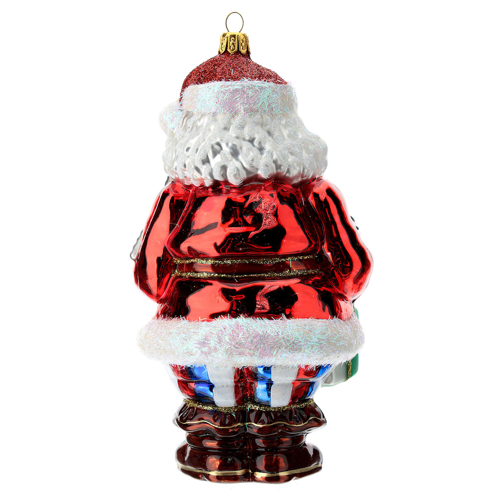 Blown glass Christmas ornament, Santa Claus in France 4