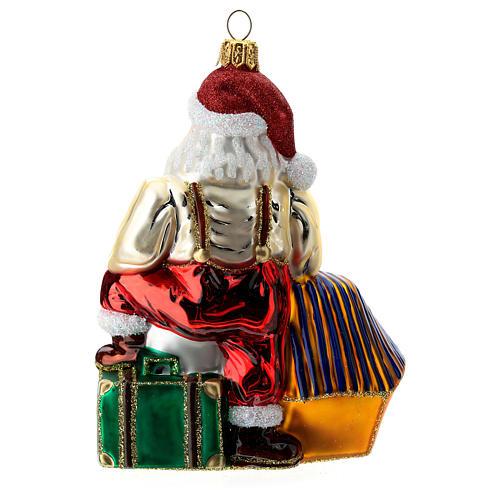Babbo Natale in Egitto addobbo albero di Natale vetro soffiato 4