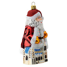 Blown glass Christmas ornament, Santa Claus in Austria s3