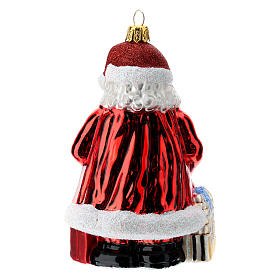 Blown glass Christmas ornament, Santa Claus in Austria s4