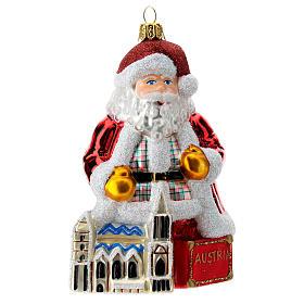 Papá Noel Austria vidrio soplado adorno Árbol de Navidad s1