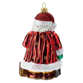 Blown glass Christmas ornament, Santa Claus in Spain s4
