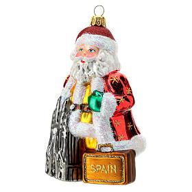 Babbo Natale Spagna addobbo albero Natale vetro soffiato 13 cm s2