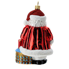 Blown glass Christmas ornament, Santa Claus in Italy s4