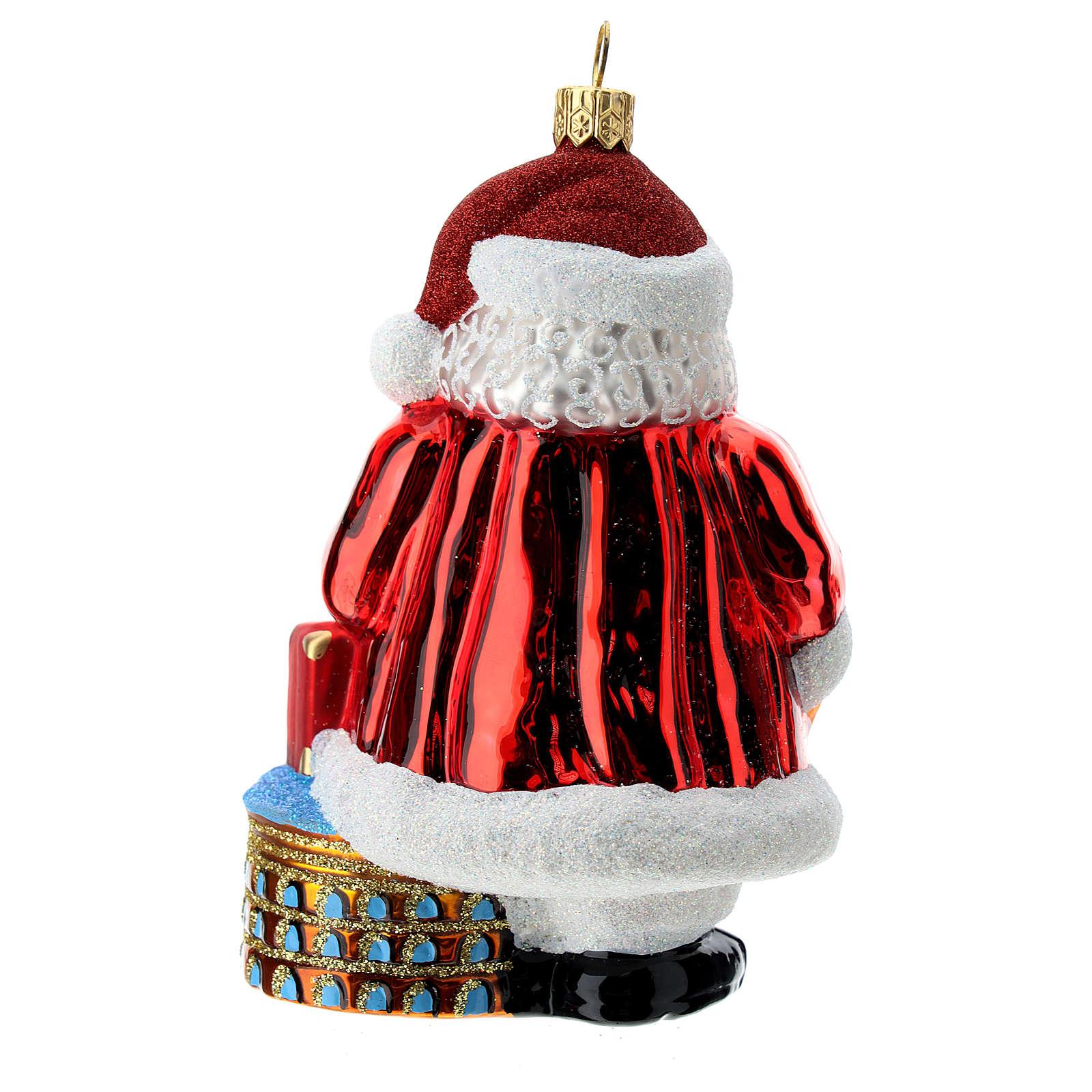 Père Noël italien décoration sapin Noël verre soufflé 4