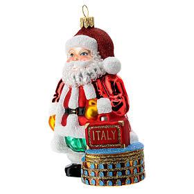 Italian Santa Claus blown glass Christmas ornament s2