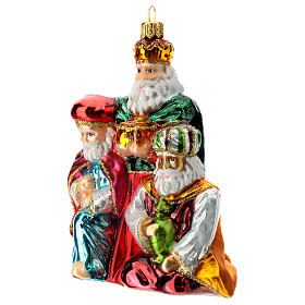 Blown glass Christmas ornament, Three Wise Men s2