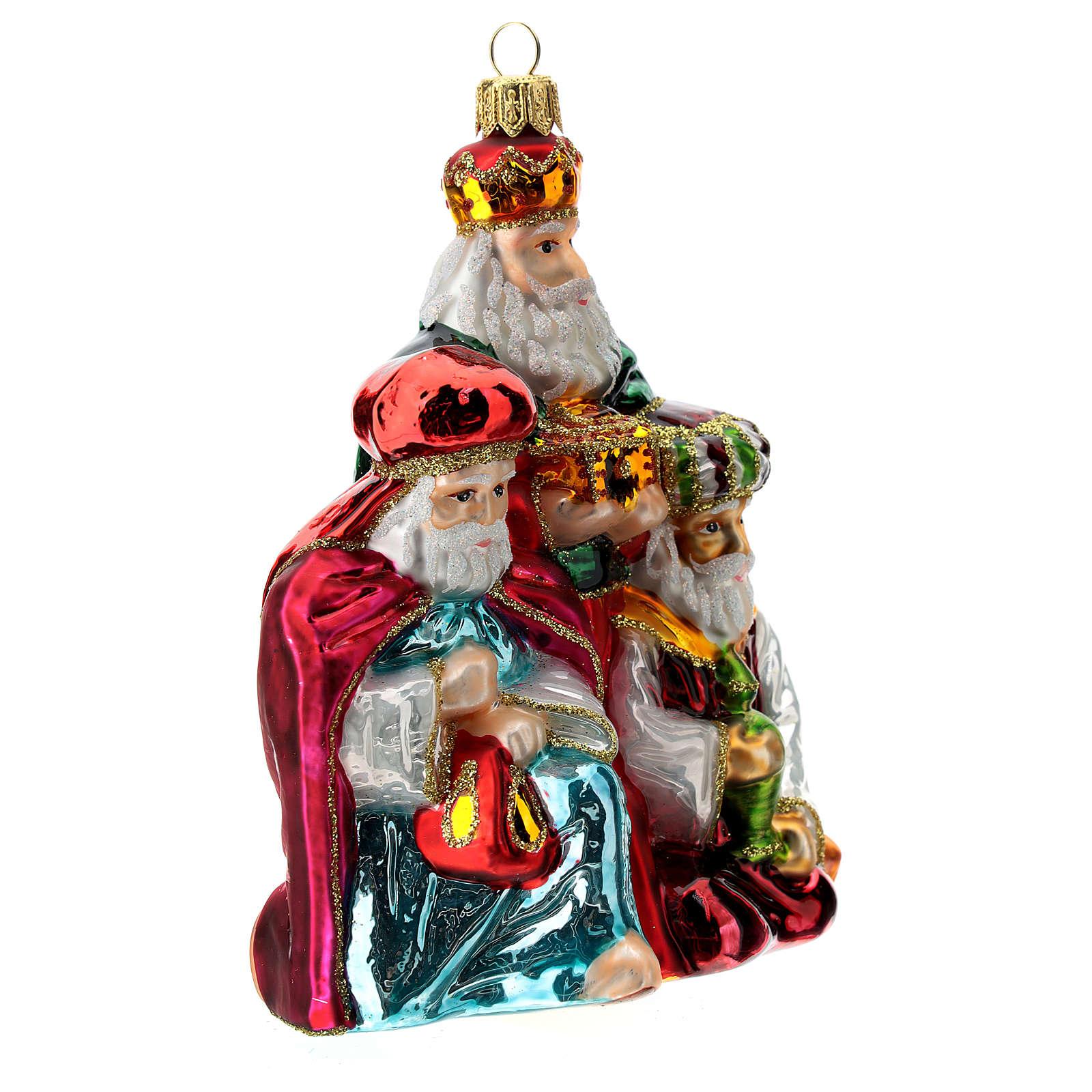 Addobbo albero Natale Re Magi vetro soffiato 4
