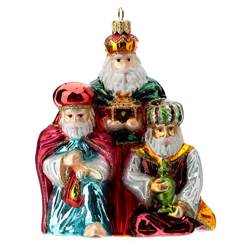 Santa Wise Men blown glass Christmas ornament 1