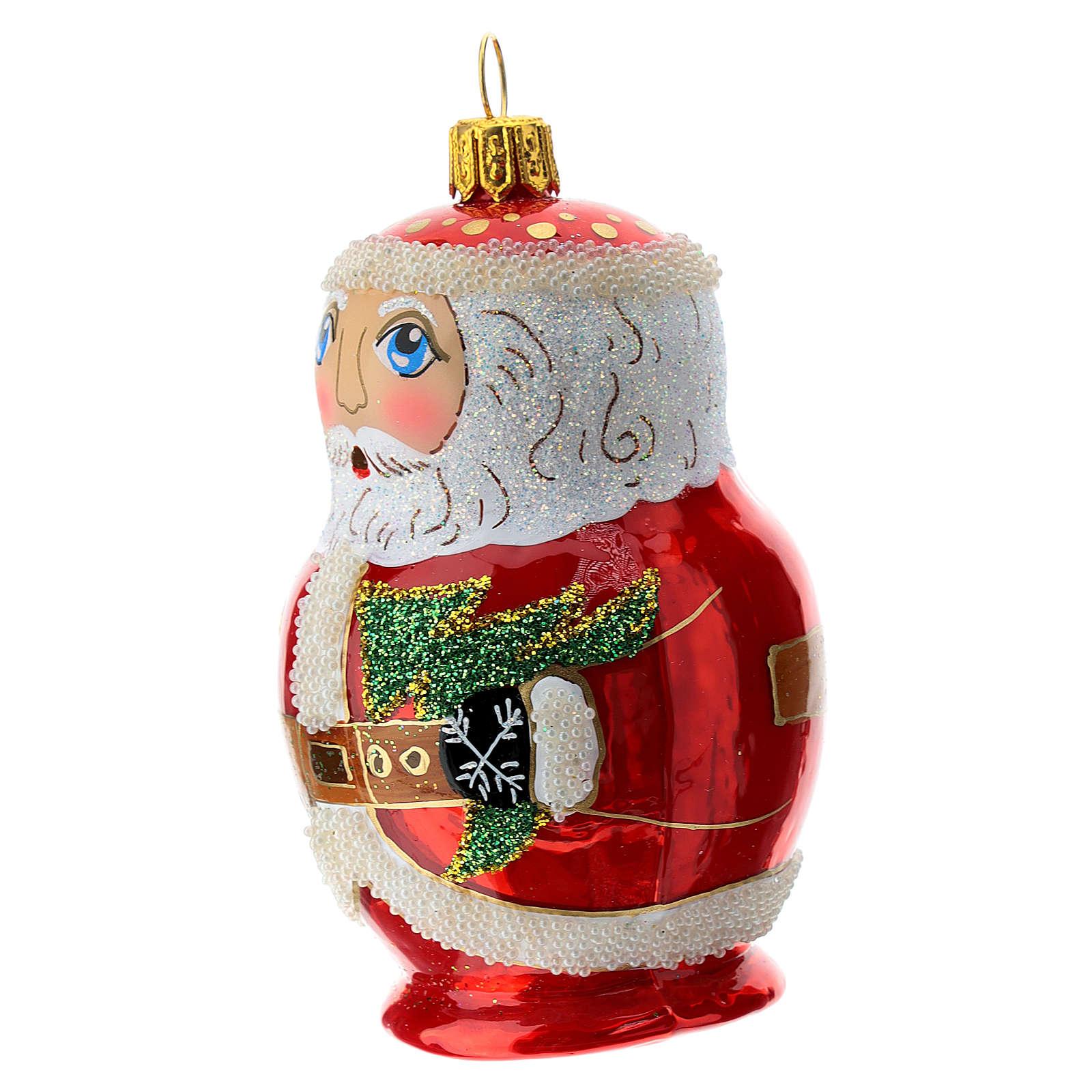 Papá Noel estilo ruso adorno Árbol Navidad vidrio soplado 4