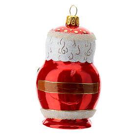 Babbo Natale stile russo addobbo albero Natale vetro soffiato s4