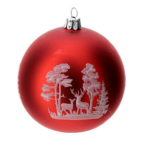 Christmas tree ball in blown glass: deer, 100 mm s2