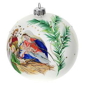 Palla albero Natale vetro soffiato opaca S. Famiglia 100 mm s3
