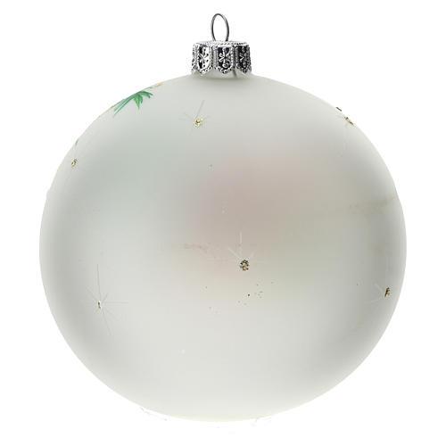 Palla albero Natale vetro soffiato opaca S. Famiglia 100 mm 4