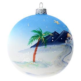Bola árbol Navidad vidrio soplado azul motivo ciudad árabe 100 mm s3