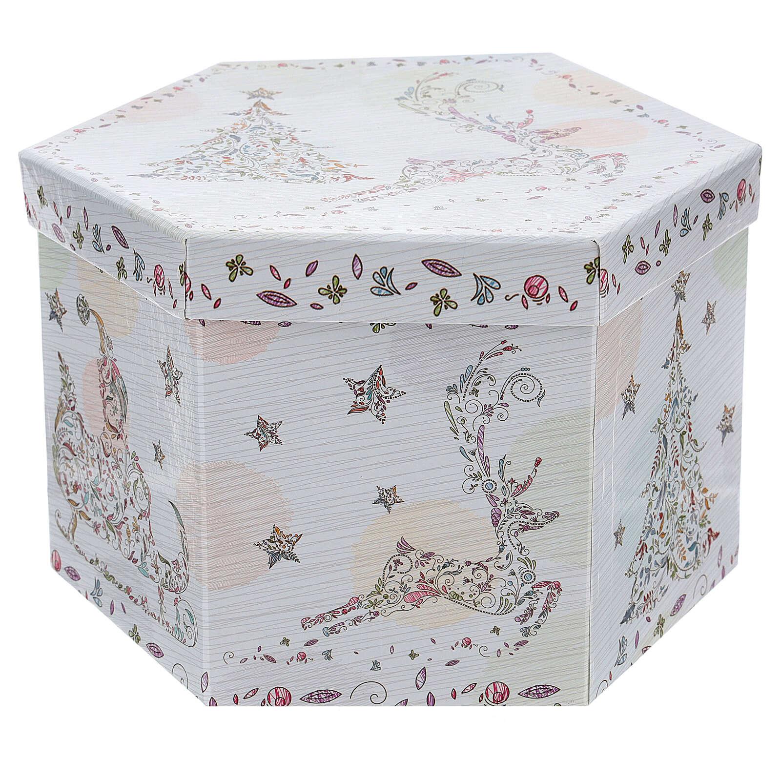 Bola para árbol Navidad 75 mm blanca motivo floral (surtida) 4