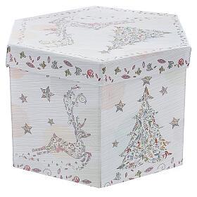 Bola para árbol Navidad 75 mm blanca motivo floral (surtida) s9