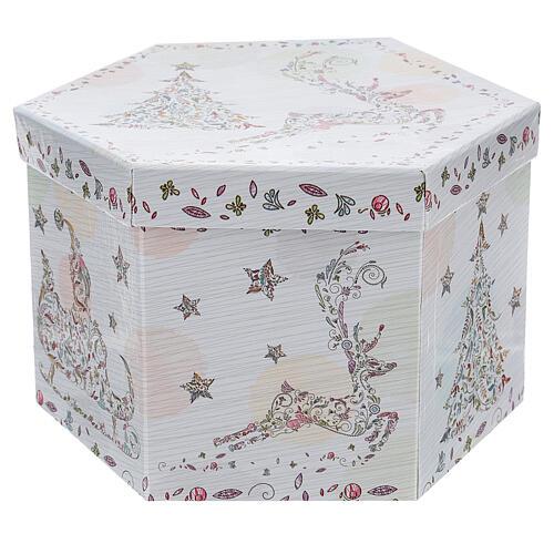 Bola para árbol Navidad 75 mm blanca motivo floral (surtida) 7