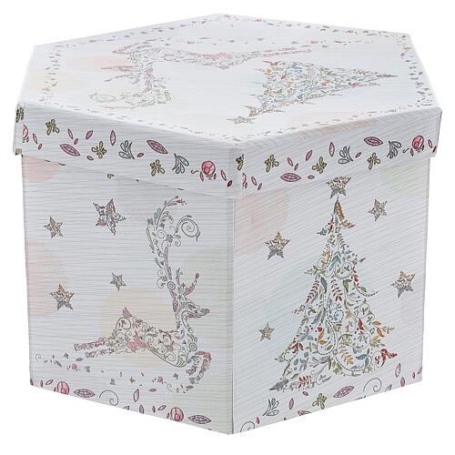 Bola para árbol Navidad 75 mm blanca motivo floral (surtida) 9