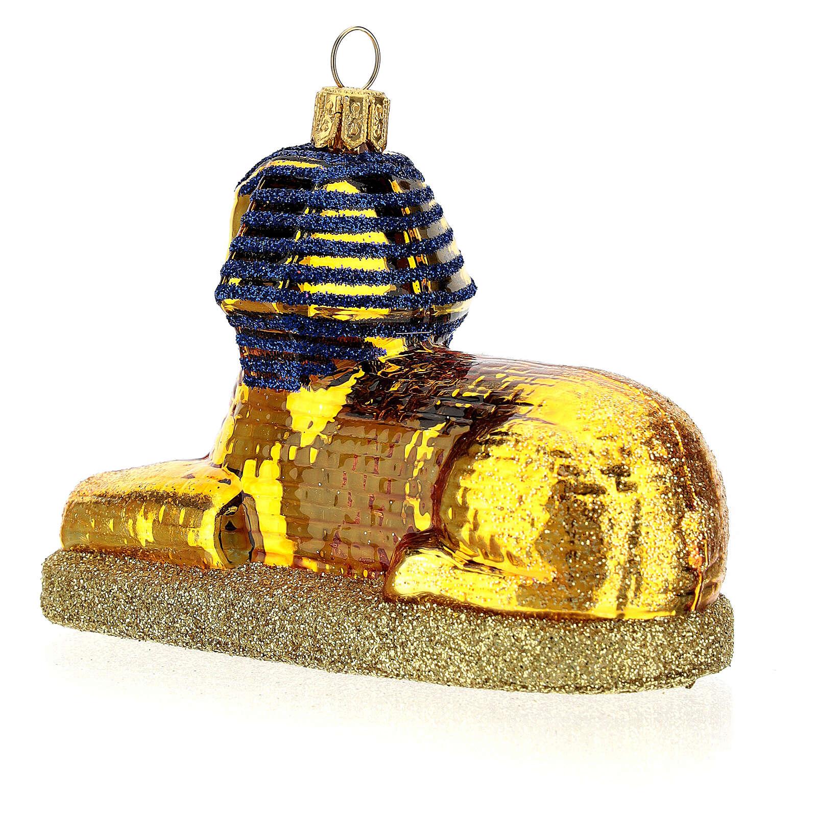 Esfinge egipcia vidrio soplado decoración Árbol Navidad 4