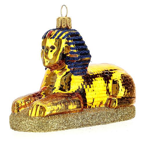 Esfinge egipcia vidrio soplado decoración Árbol Navidad 2