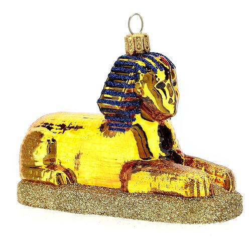 Esfinge egipcia vidrio soplado decoración Árbol Navidad 3