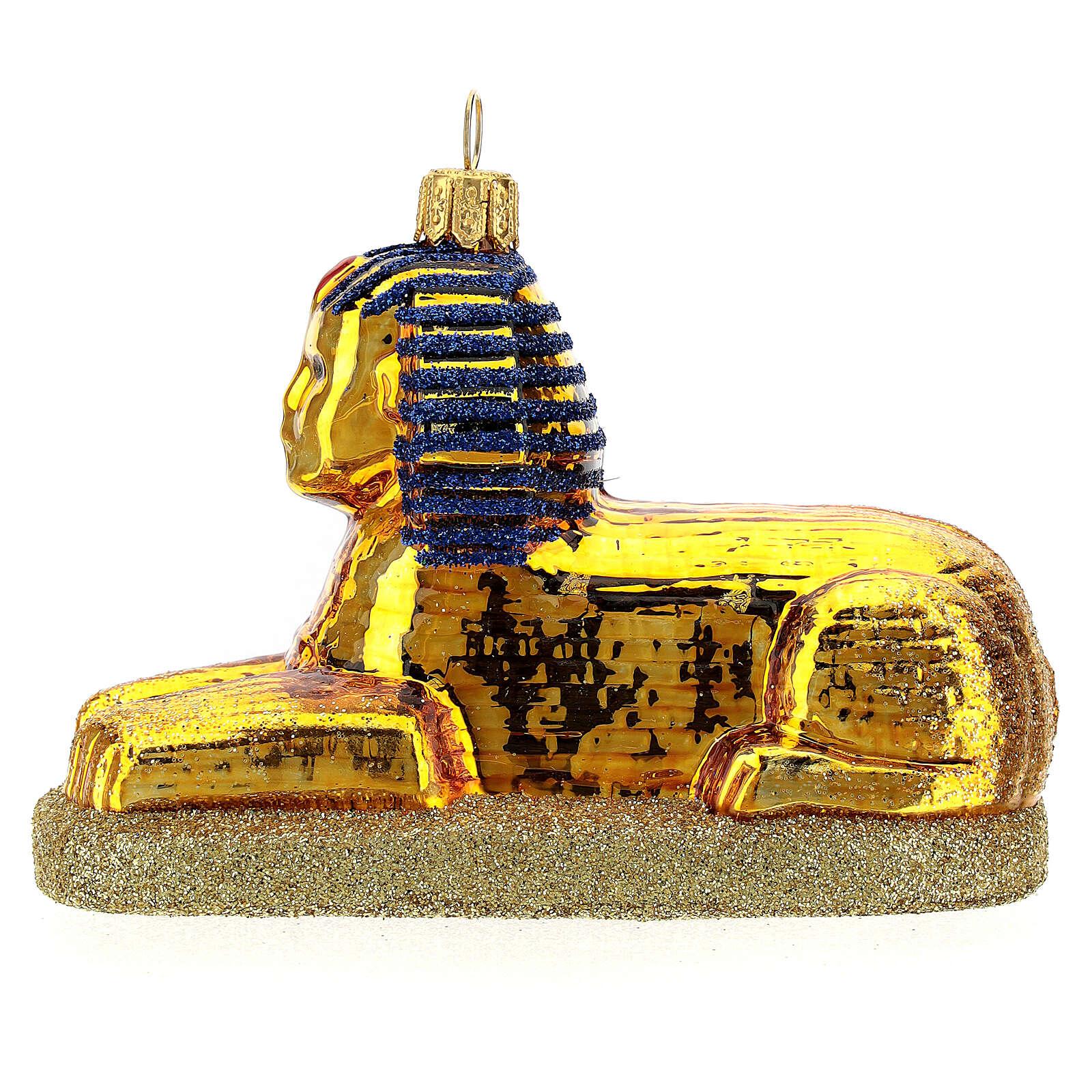 Sphinx égyptien verre soufflé décoration sapin Noël 4