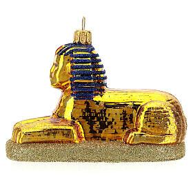 Sphinx égyptien verre soufflé décoration sapin Noël s1
