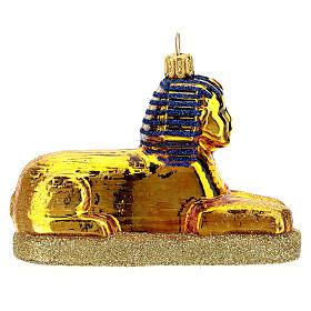 Sphinx égyptien verre soufflé décoration sapin Noël s4