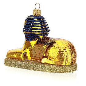 Sfinge egiziana vetro soffiato decoro albero Natale s5