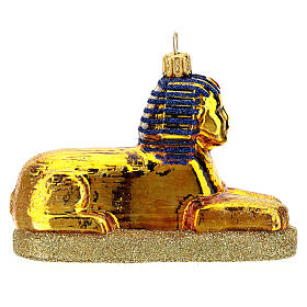 Blown glass Christmas ornament, The Sphinx s4