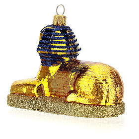 Blown glass Christmas ornament, The Sphinx s5