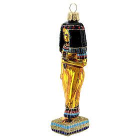Cleopatra addobbo albero Natale vetro soffiato Egitto s2