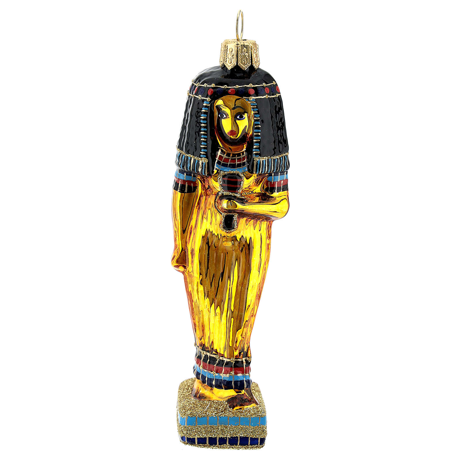 Blown glass Christmas ornament, Egyptian Cleopatra ...