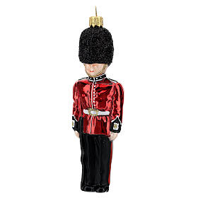 English Royal Guard Christmas tree decoration in blown glass s2