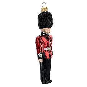 English Royal Guard Christmas tree decoration in blown glass s3