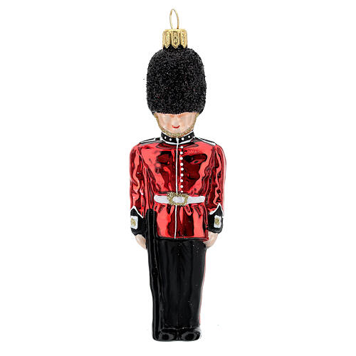 English Royal Guard Christmas tree decoration in blown glass 1