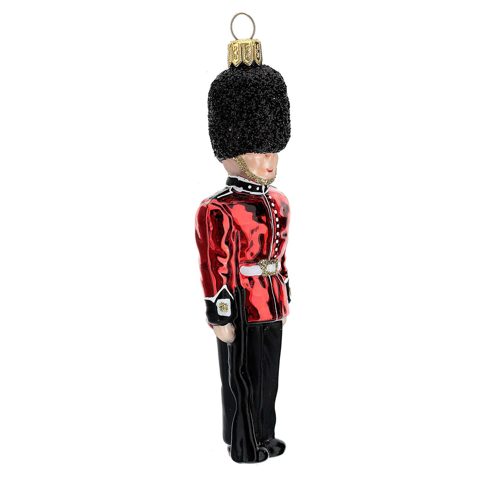 Guardia reale inglese addobbo vetro soffiato albero Natale 4