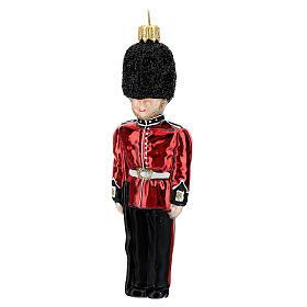 Guardia reale inglese addobbo vetro soffiato albero Natale s2