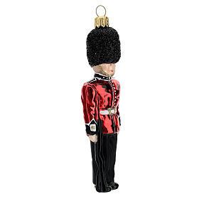 Guardia reale inglese addobbo vetro soffiato albero Natale s3