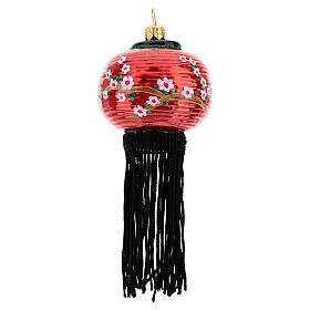 Lanterna cinese addobbo vetro soffiato albero Natale s1