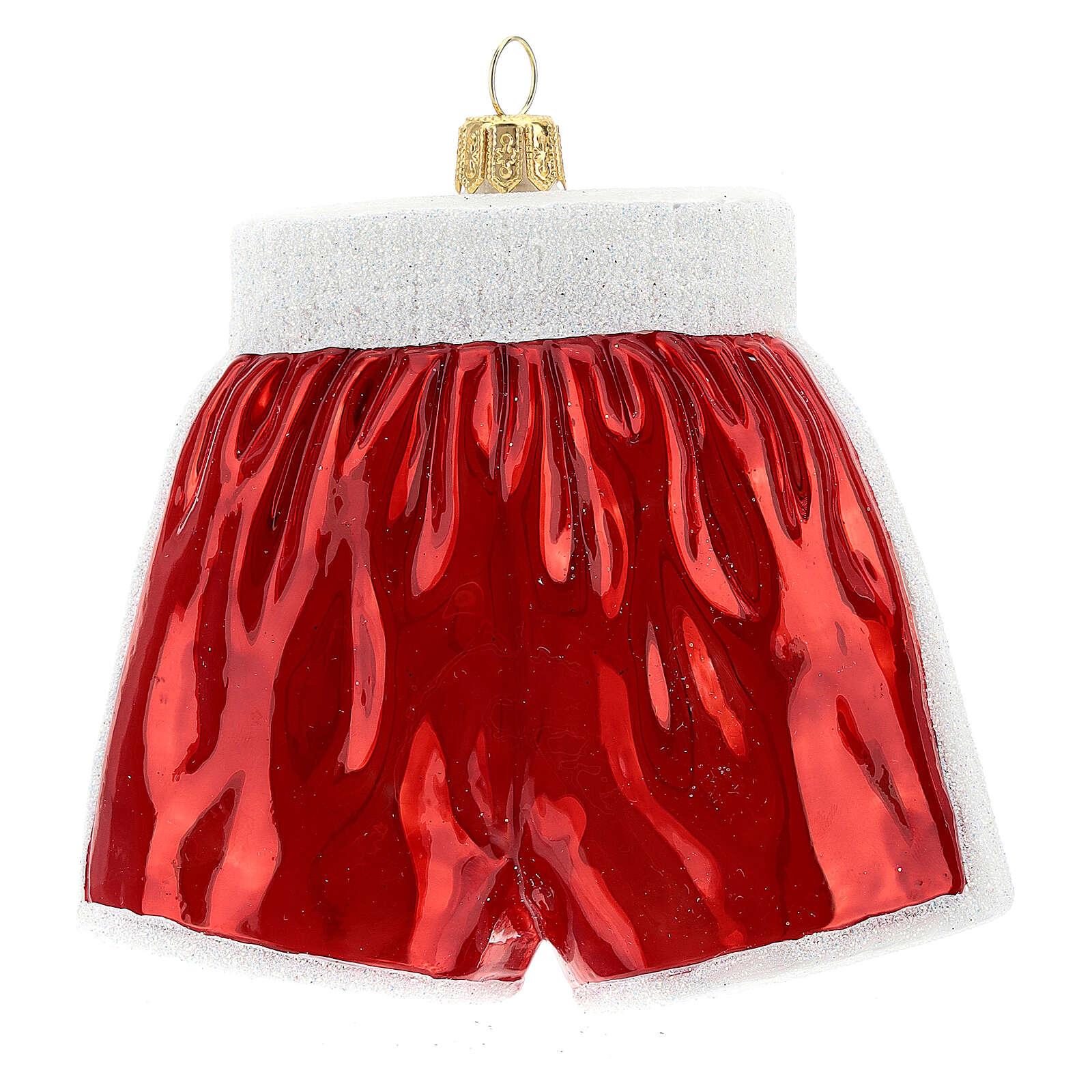 Pantalones cortos de boxeo adorno árbol Navidad vidrio soplado 4