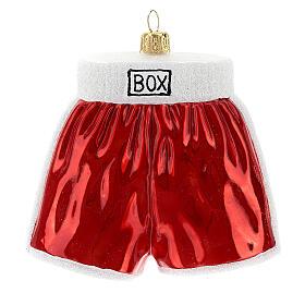 Pantalones cortos de boxeo adorno árbol Navidad vidrio soplado s1