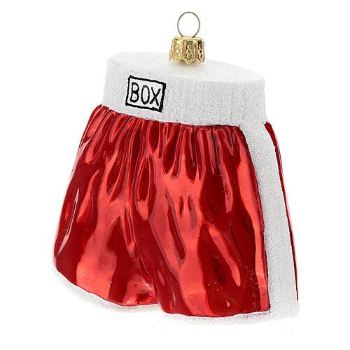 Pantalones cortos de boxeo adorno árbol Navidad vidrio soplado 2