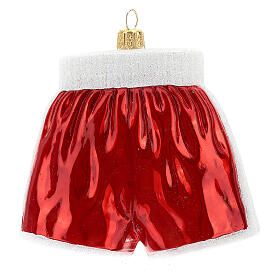 Blown glass Christmas ornament, boxing shorts s4