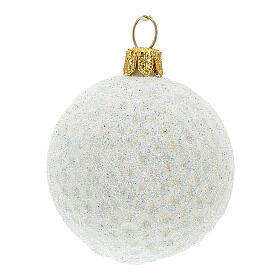 Golf ball Christmas tree decoration in blown glass s2