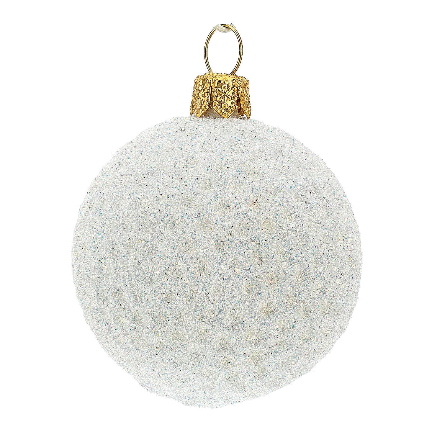 Pallina da golf decorazione albero Natale vetro soffiato 4