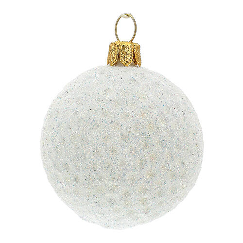 Pallina da golf decorazione albero Natale vetro soffiato 2
