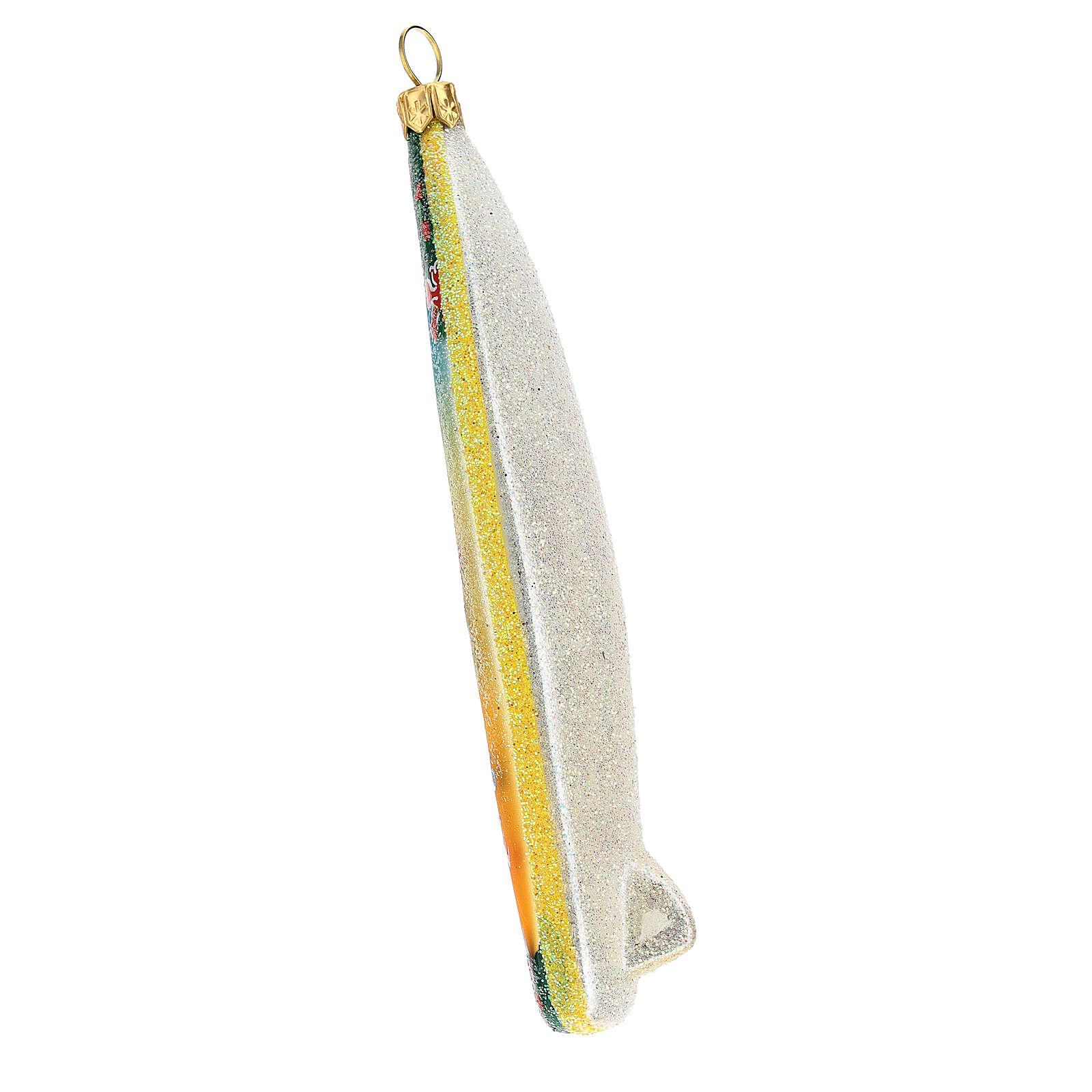 Tabla de surf adorno navideño vidrio soplado para Árbol 4